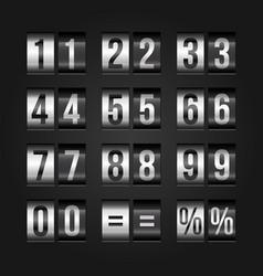 scoreboard numbers vector image
