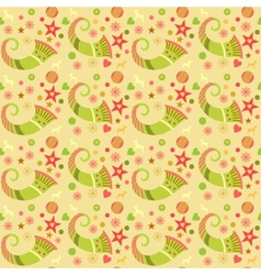 Seamless pattern christmas wrapping paper vector