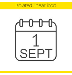 september 1st linear icon vector image