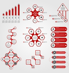 Set of Infographics Modern design template vector image