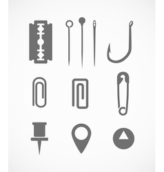 sharp instrument silhouettes vector image