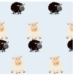 sheep jumping over black sheep pattern vector image