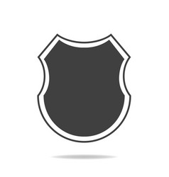 Shield icon security company logo abstract symbol vector