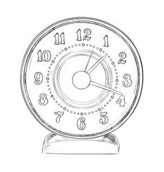 sketch of clock vector image
