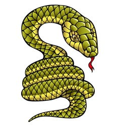 Snake symbol of the year vector image