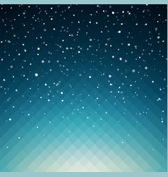 snowy background for your christmas design vector image