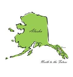 State alaska vector