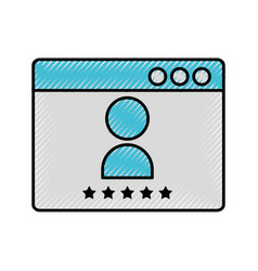 template web with user vector image