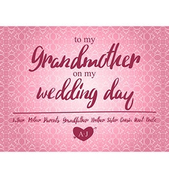 Thank You Card on my Wedding day vector
