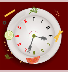time for healthy vegan lunch conceptual vector image