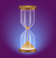 True transparent sand hourglass isolated on white vector