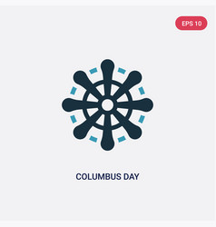 Two color columbus day icon from united states of vector