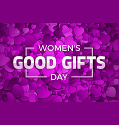 womens day good gifts vector image