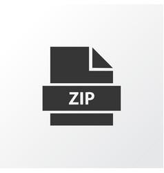 Zip icon symbol premium quality isolated archive vector