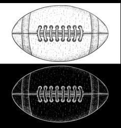 american football ball hand drawn sketch vector image vector image