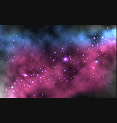 Colorful nebula background realistic space vector