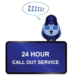 twenty four call out service sign vector image vector image
