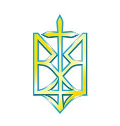 ukrainian nationalism design vector image