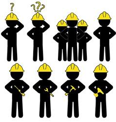 Workers vector image vector image