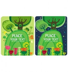 magical forest set vector image