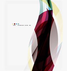 modern creative curve background with copy space vector image vector image