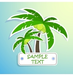 Realistic paper sticker palm Isolated vector image vector image