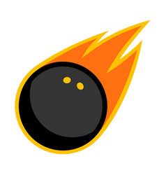 sport ball fire squash vector image vector image