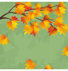 Vintage autumn wallpaper leaf fall background vector
