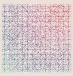 Vintage color graph paper background vector image