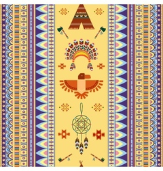 vintage tribal ethnic seamless pattern for vector image vector image