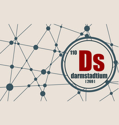 darmstadtium chemical element vector image vector image