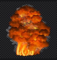 fire concept background realistic style vector image