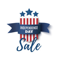independence day sale background 4th of july vector image vector image