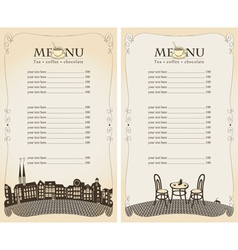 menu pavement vector image