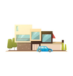modern house real estate sign in flat style vector image