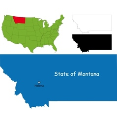 Montana map vector image vector image