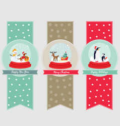 set of holiday banners and bookmarks vector image vector image