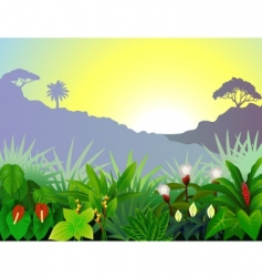 tropical view vector image vector image