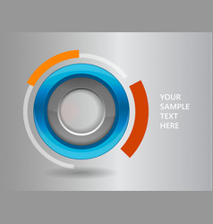 3D circle frame on a white background vector image