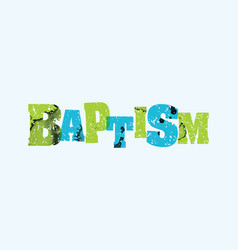 Baptism concept stamped word art vector