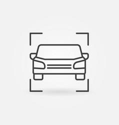 car line icon or symbol vector image