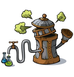 Distillation machine vector image
