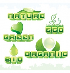 eco labels vector image vector image