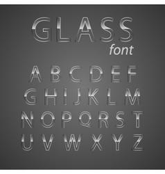 Glass alphabet vector image vector image