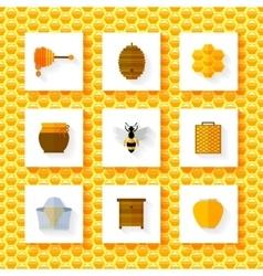 Honey elements set vector image vector image