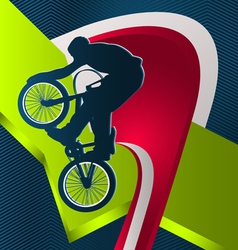 modern dynamic designed sport background bmx vector image