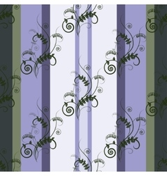 Seamless green floral pattern with vetch vector image