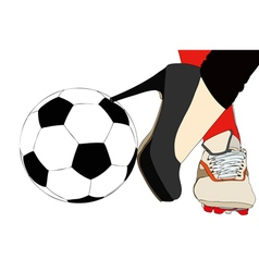 A sporty and elegant woman vector