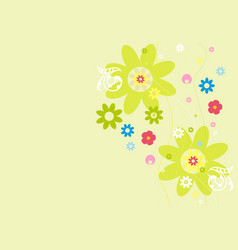 Abstract background flowers vector