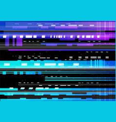 abstract background with glitch effect vector image